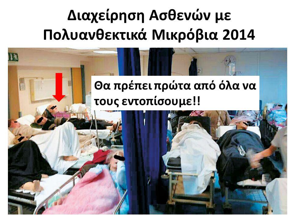 Διαχείρηση Ασθενών με Πολυανθεκτικά Μικρόβια 2014 Θα πρέπει πρώτα από όλα να τους εντοπίσουμε!!