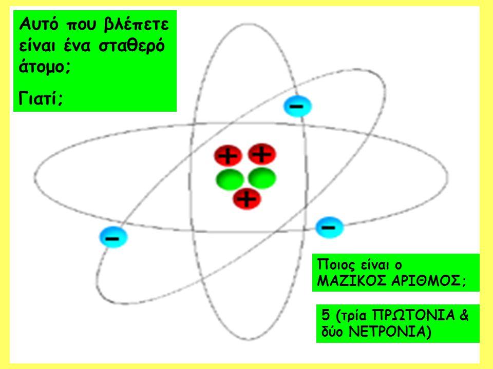 Quiz 4.Η ραδιενέργεια εκπέμπεται από… A) Όλα τα άτομα B) Τα περισσότερα άτομα Γ) Ασταθή άτομα Δ) Σταθερά άτομα