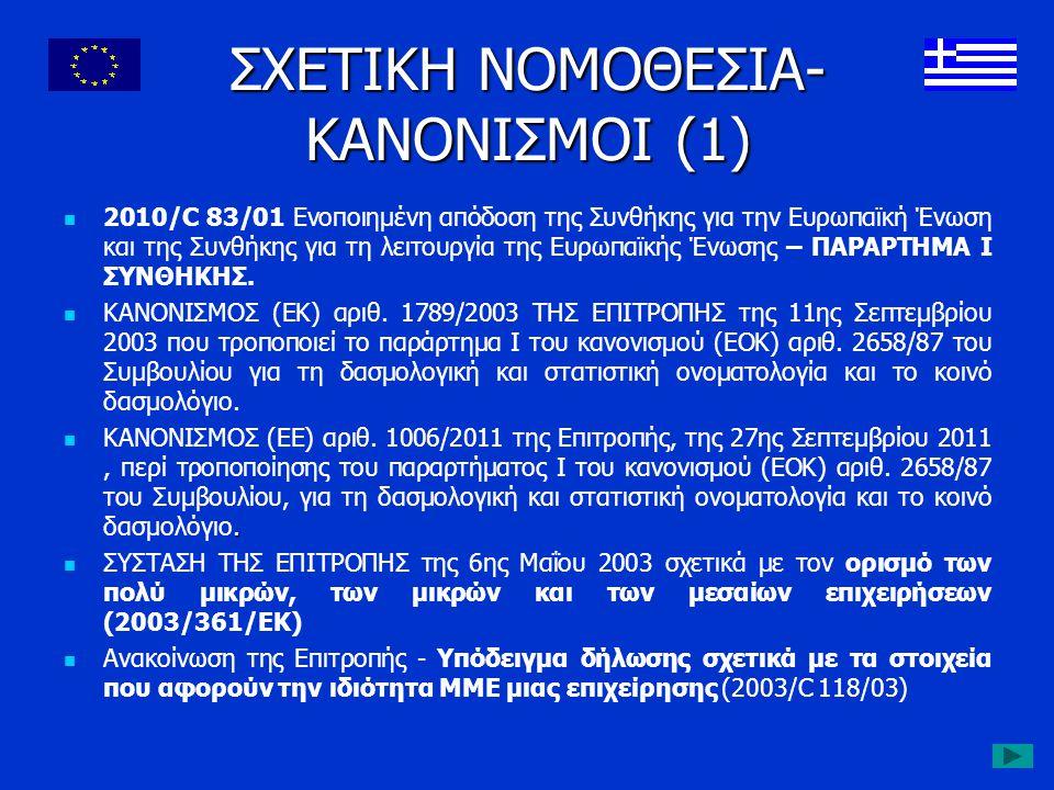 ΣΧΕΤΙΚΗ ΝΟΜΟΘΕΣΙΑ- ΚΑΝΟΝΙΣΜΟΙ (1) 2010/C 83/01 Ενοποιημένη απόδοση της Συνθήκης για την Ευρωπαϊκή Ένωση και της Συνθήκης για τη λειτουργία της Ευρωπαϊ