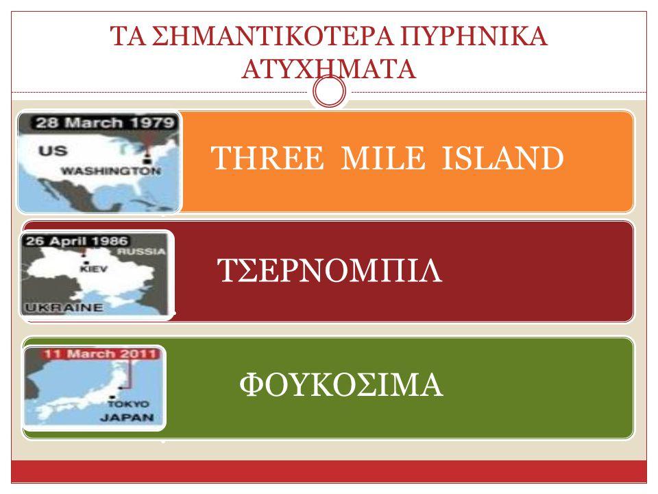 ΤΑ ΣΗΜΑΝΤΙΚΟΤΕΡΑ ΠΥΡΗΝΙΚΑ ΑΤΥΧΗΜΑΤΑ THREE MILE ISLAND ΤΣΕΡΝΟΜΠΙΛ ΦΟΥΚΟΣΙΜΑ