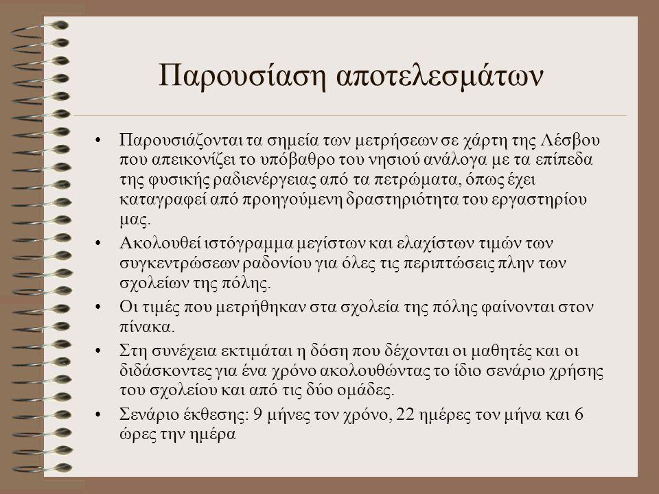 Προτάσεις - Επικοινωνία Είναι δυνατός ο έλεγχος των υφισταμένων κατασκευών Για περισσότερες πληροφορίες στο θέμα του ελέγχου: E-mail: svog@env.aegean.grsvog@env.aegean.gr Τηλ: 2251-036214 κ.