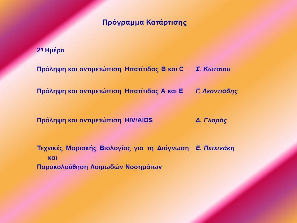 2 η Ημέρα Πρόληψη και αντιμετώπιση Ηπατίτιδας B και C Σ.