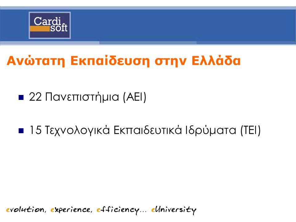 ΟΠΣ eUniversity Φοιτητικές Υπηρεσίες  Υποσύστημα Διαχείρισης Δεδομένων Φοιτητών καθώς και Προγραμμάτων Σπουδών.