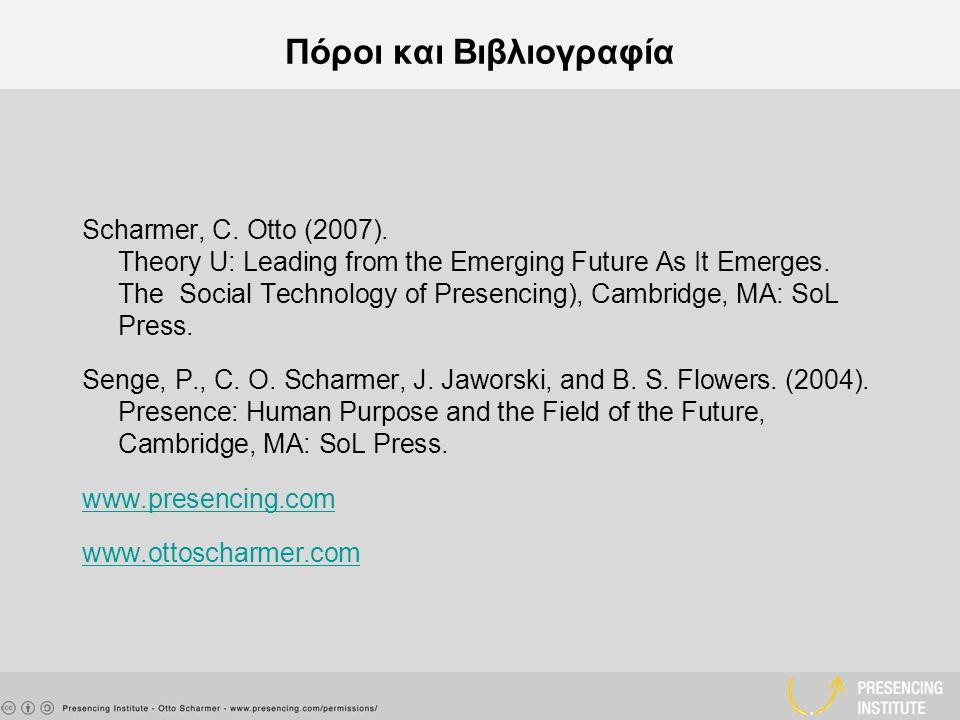 Πόροι και Βιβλιογραφία Scharmer, C. Otto (2007).