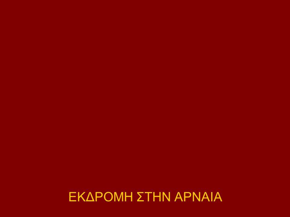 ΕΚΔΡΟΜΗ ΣΤΗΝ ΑΡΝΑΙΑ