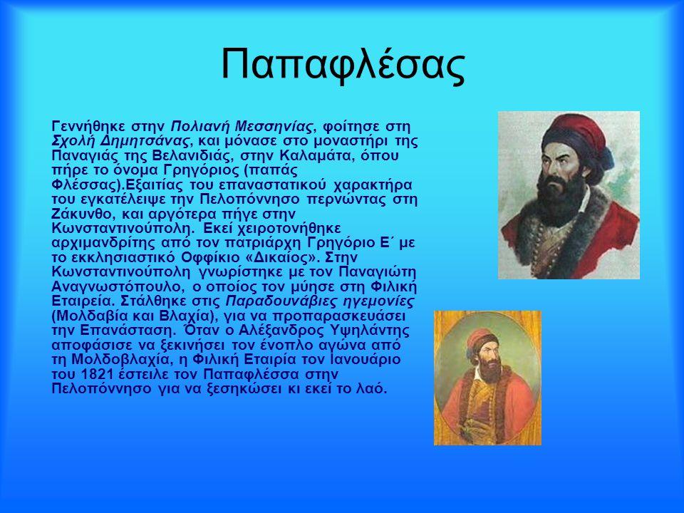 Παπαφλέσας Γεννήθηκε στην Πολιανή Μεσσηνίας, φοίτησε στη Σχολή Δημητσάνας, και μόνασε στο μοναστήρι της Παναγιάς της Βελανιδιάς, στην Καλαμάτα, όπου π