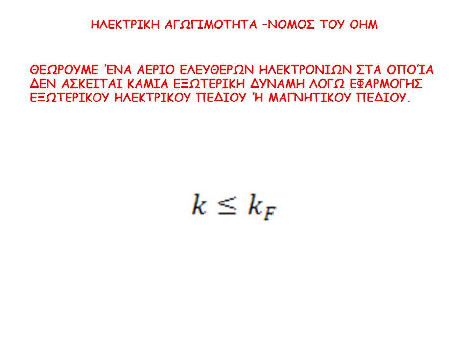 Από την σχέση αυτή προκύπτει Αντικαθιστούμε τις τιμές οπότε προκύπτει η συγκέντρωση των ηλεκτρονίων.