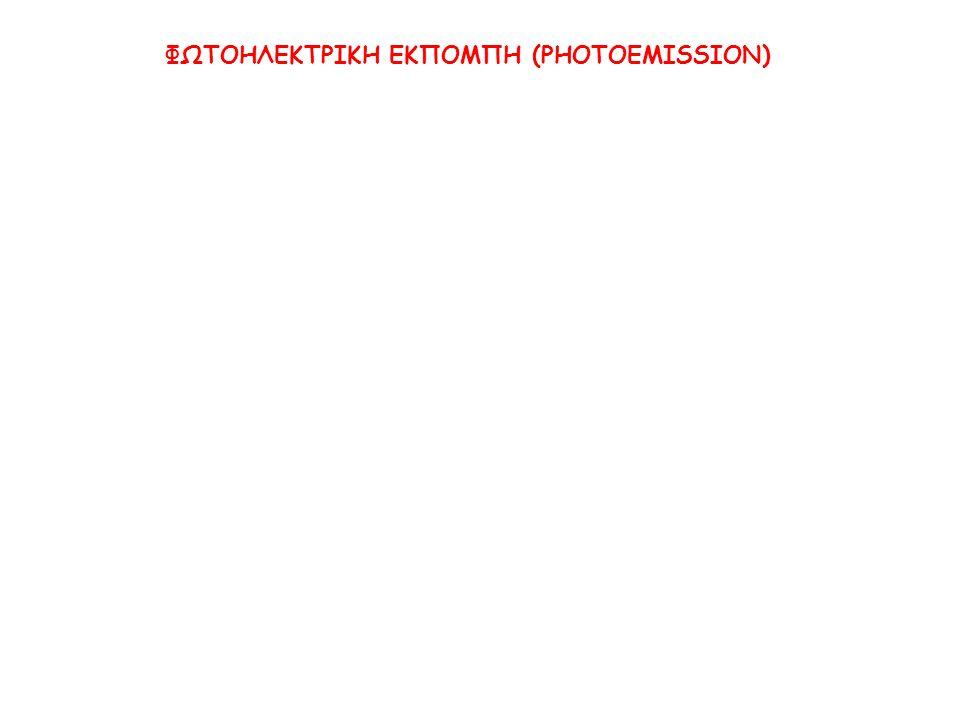 ΦΩΤΟΗΛΕΚΤΡΙΚΗ ΕΚΠΟΜΠΗ (PHOTOEMISSION)
