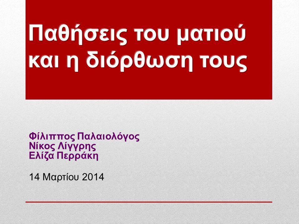 Φίλιππος Παλαιολόγος Νίκος Λίγγρης Ελίζα Περράκη 14 Μαρτίου 2014