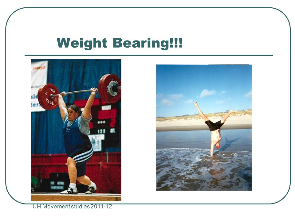 Weight Bearing!!! UH Movement studies 2011-12 24