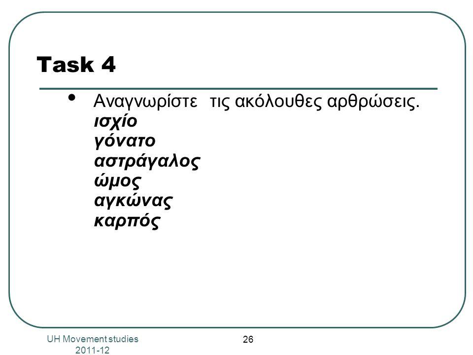 Task 4 Αναγνωρίστε τις ακόλουθες αρθρώσεις.
