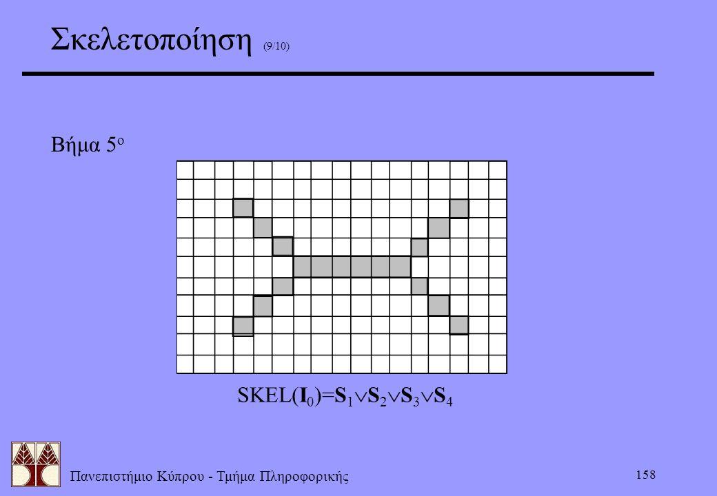 Πανεπιστήμιο Κύπρου - Τμήμα Πληροφορικής 158 Σκελετοποίηση (9/10) Βήμα 5 ο SKEL(I 0 )=S 1  S 2  S 3  S 4