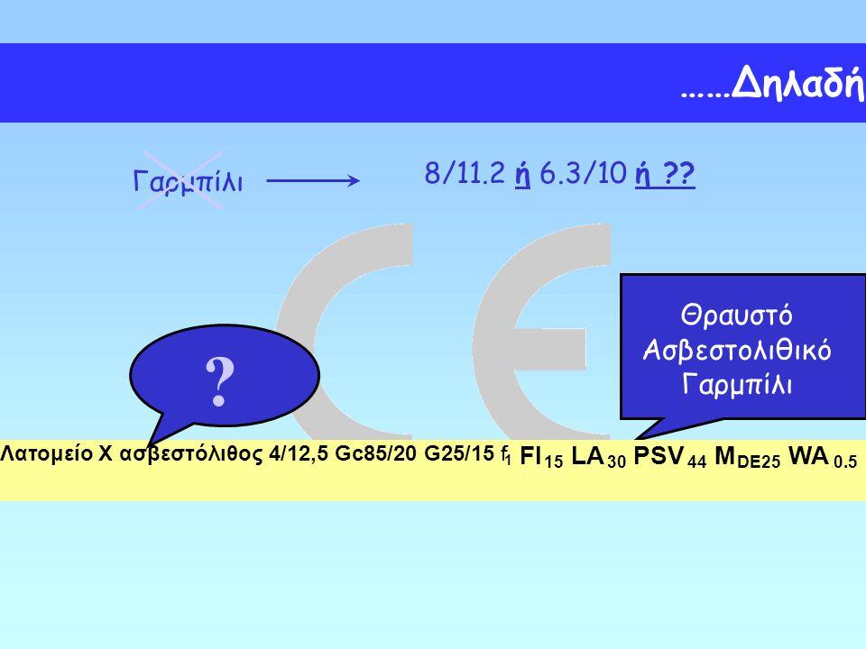 Γαρμπίλι 8/11.2 ή 6.3/10 ή ?? Θραυστό Ασβεστολιθικό Γαρμπίλι Λατομείο X ασβεστόλιθος 4/12,5 Gc85/20 G25/15 f 1 FI 15 LA 30 PSV 44 M DE25 WA 0.5 ? ……Δη