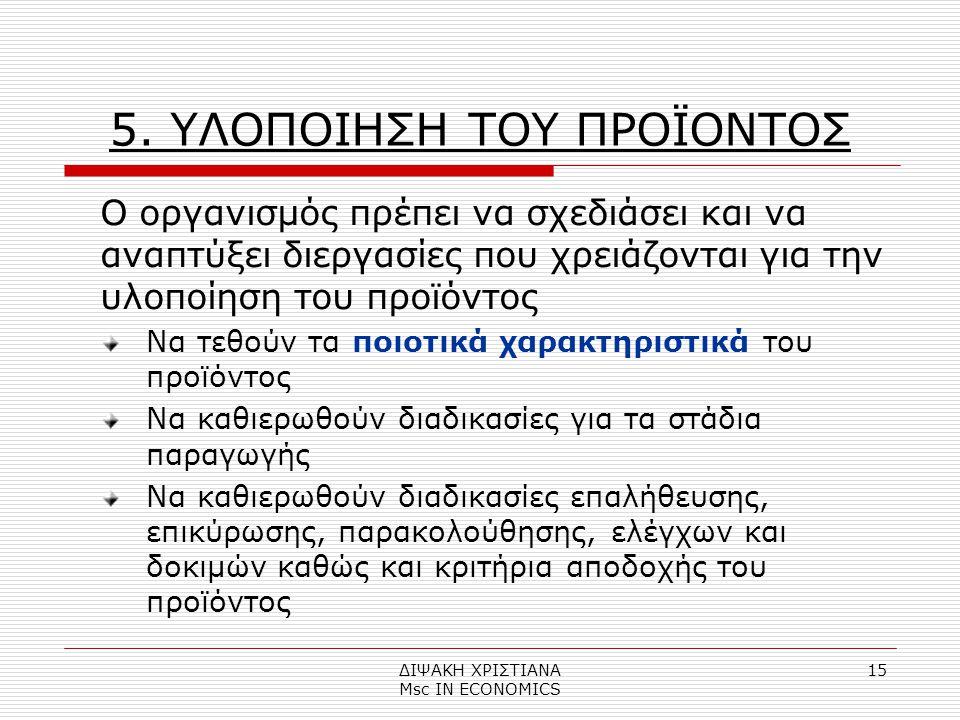 ΔΙΨΑΚΗ ΧΡΙΣΤΙΑΝΑ Μsc IN ECONOMICS 15 5.