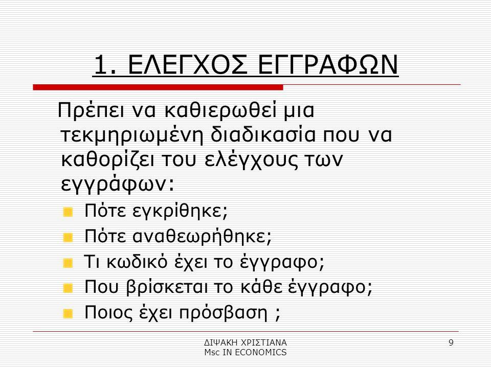 ΔΙΨΑΚΗ ΧΡΙΣΤΙΑΝΑ Μsc IN ECONOMICS 9 1.