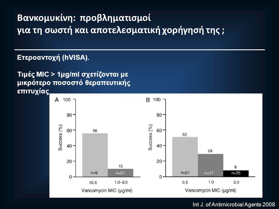 Βανκομυκίνη: προβληματισμοί για τη σωστή και αποτελεσματική χορήγησή της ; Ετεροαντοχή (hVISA).