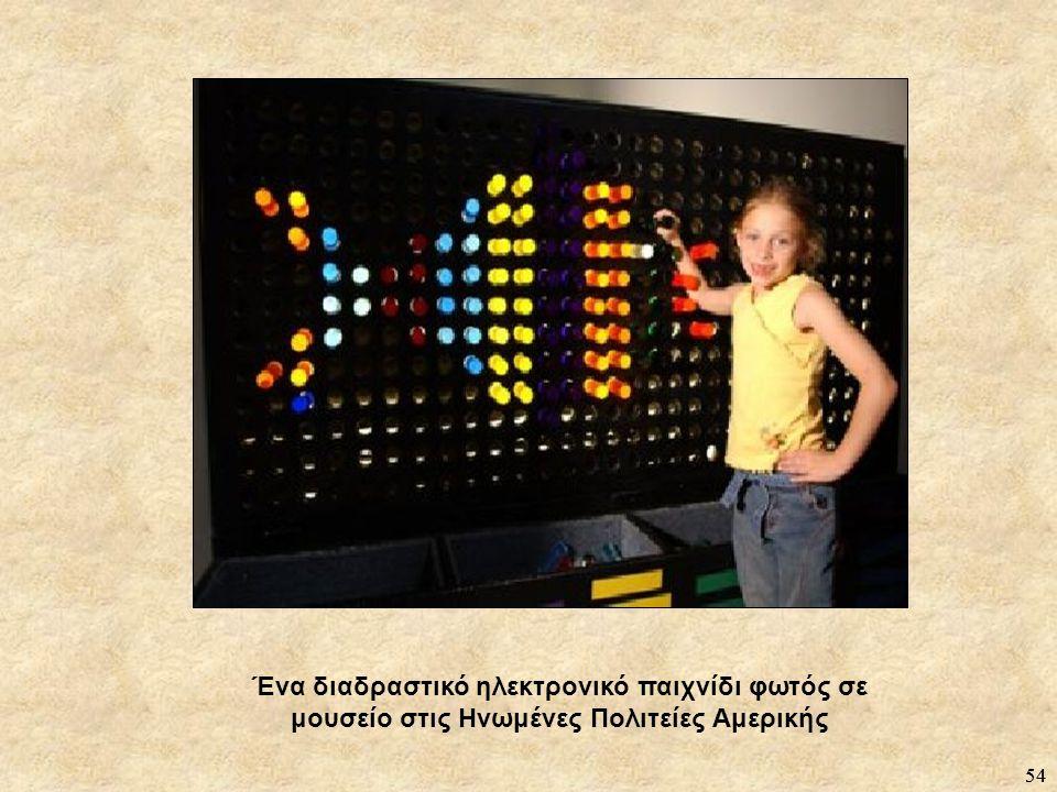 54 Ένα διαδραστικό ηλεκτρονικό παιχνίδι φωτός σε μουσείο στις Ηνωμένες Πολιτείες Αμερικής