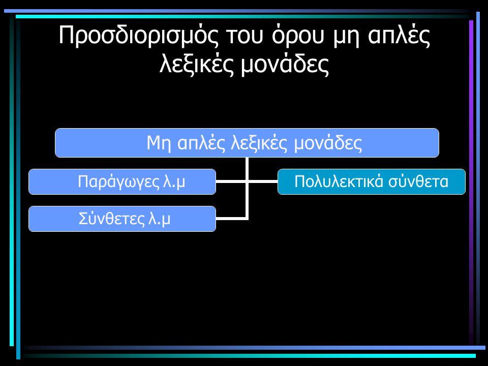 Ορισμός των παράγωγων λ.μ.