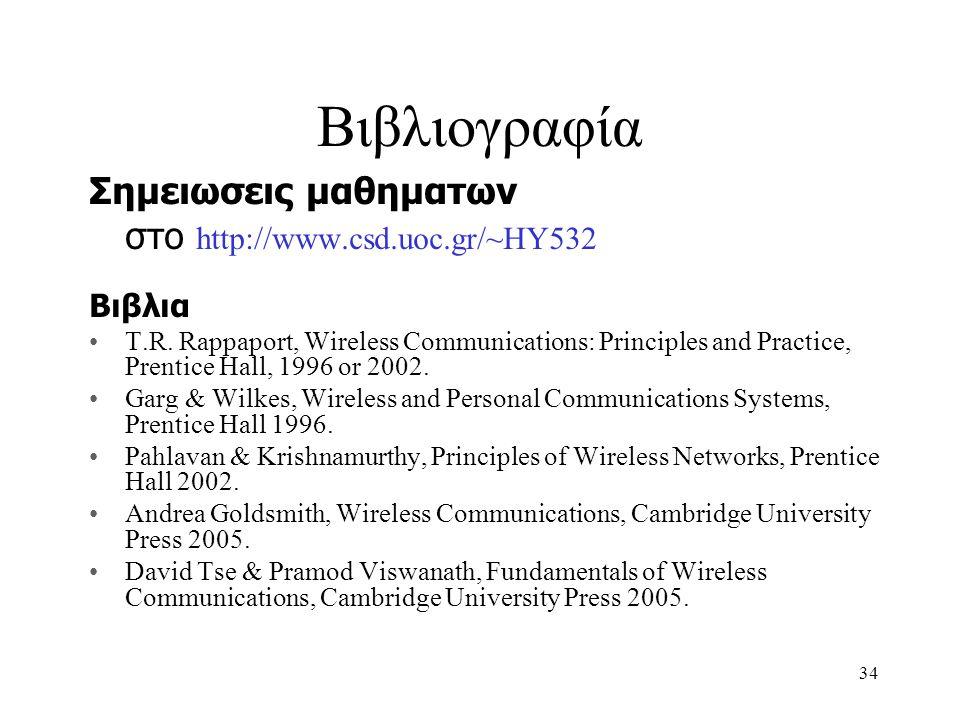 35 Επισκόπηση ασυρμάτων επικοινωνών