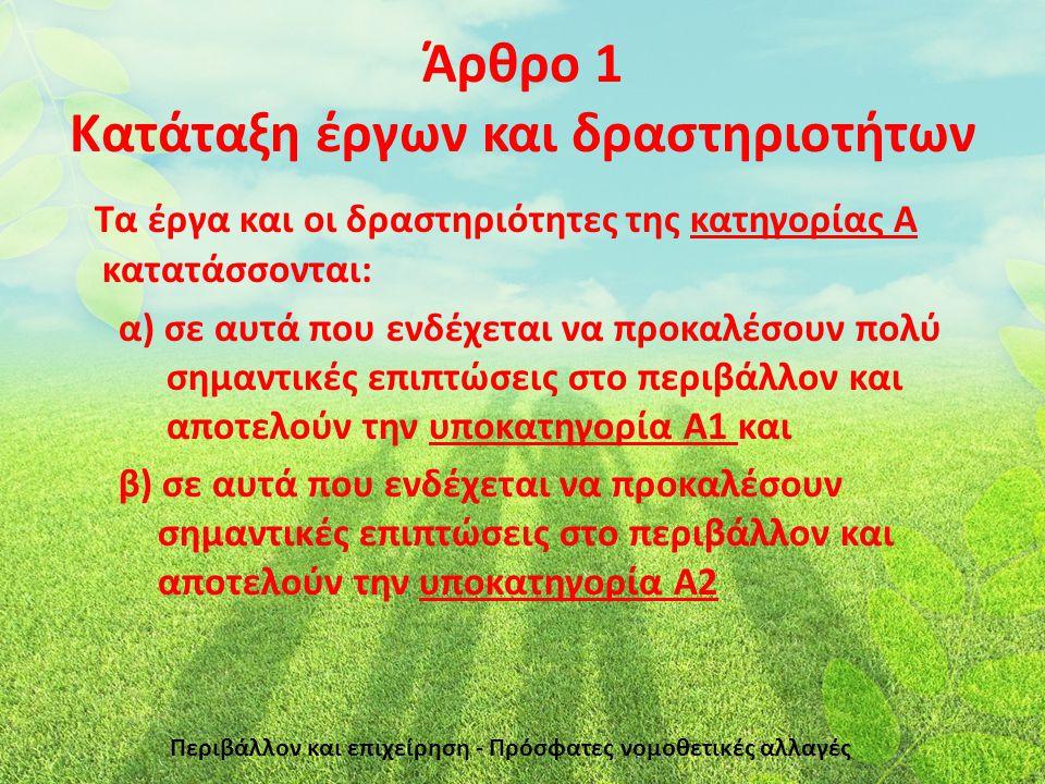 Άρθρο 12 - Ν.4014/11 & Άρθρο 55 - Ν.