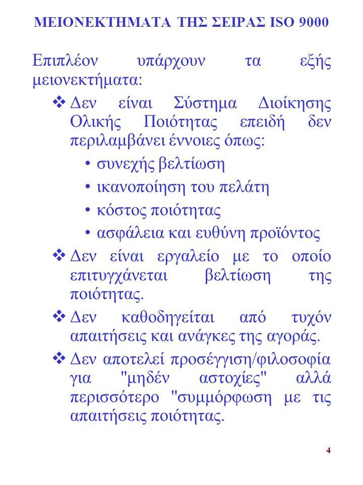 15 ΠΙΣΤΟΠΟΙΗΣΗ ΣΥΣΤΗΜΑTΟΣ ΠΟΙΟΤΗΤΑΣ ΔΙΑΔΙΚΑΣΙΑ ΕΓΓΡΑΦΗΣ Φάση Ι :Καθορισμός ετοιμότητας.