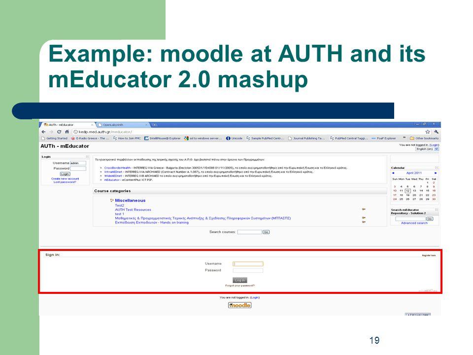 mEducator 2.0 Overview http://www.meducator2.net 18