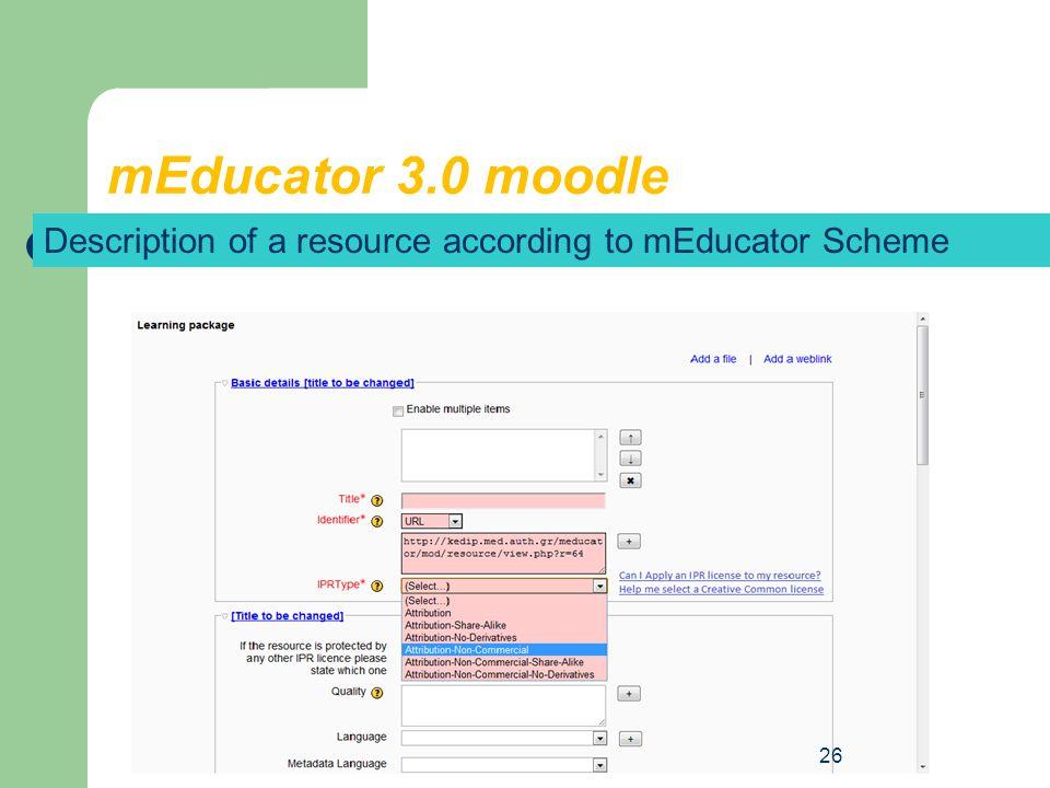 mEducator 3.0 moodle 25