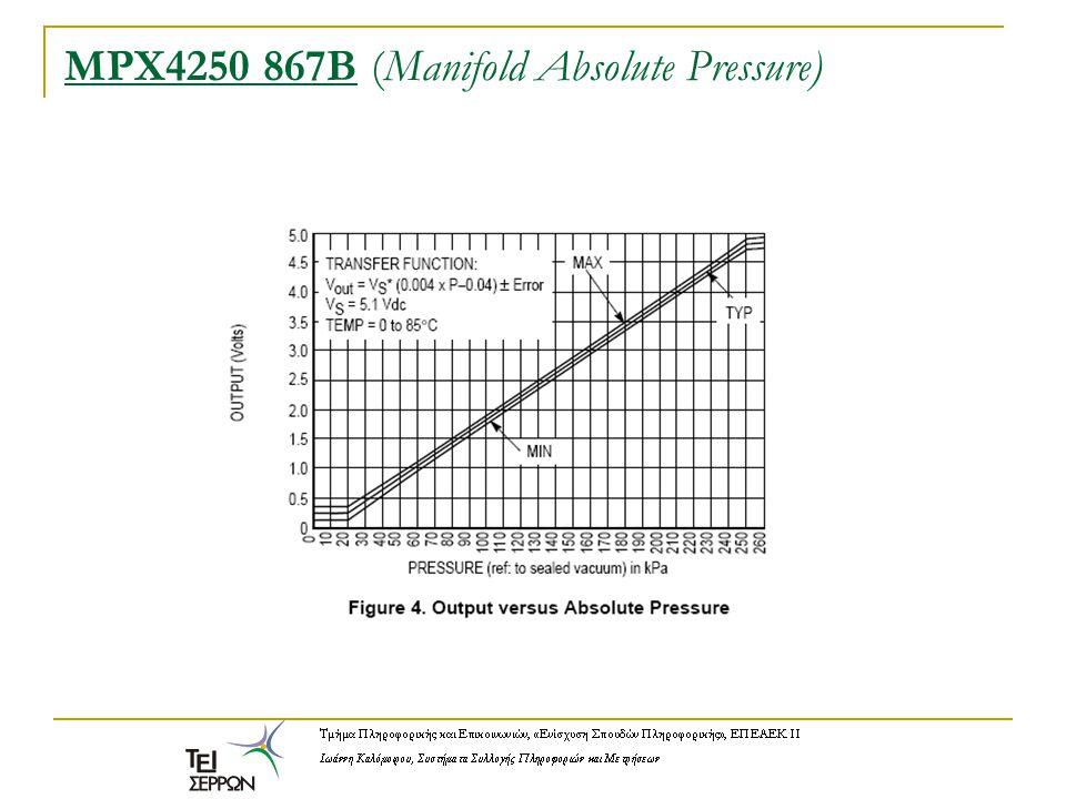 MPX4250 867B (Manifold Absolute Pressure)