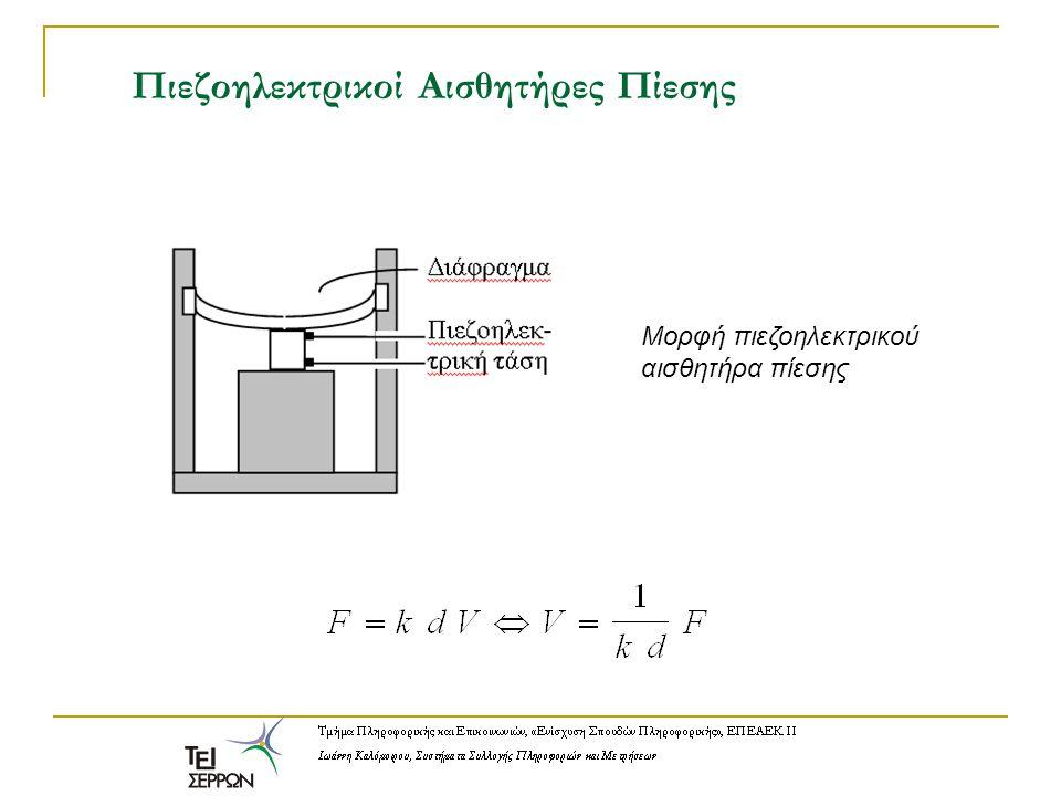 Πιεζοηλεκτρικοί Αισθητήρες Πίεσης Μορφή πιεζοηλεκτρικού αισθητήρα πίεσης