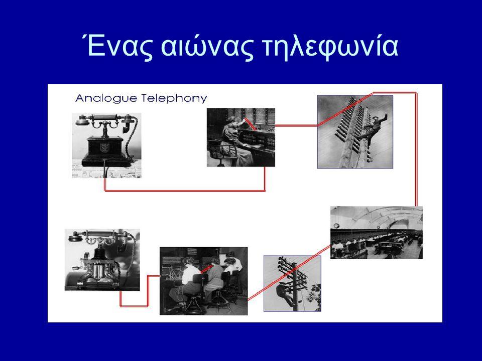 1884 …1980 Ηλεκτρομηχανολογικά Switches Transistor Chips Ψηφιοποίηση Μικροτεχνολογία Digital Telephone Switches Digital Computers Digital Communications…