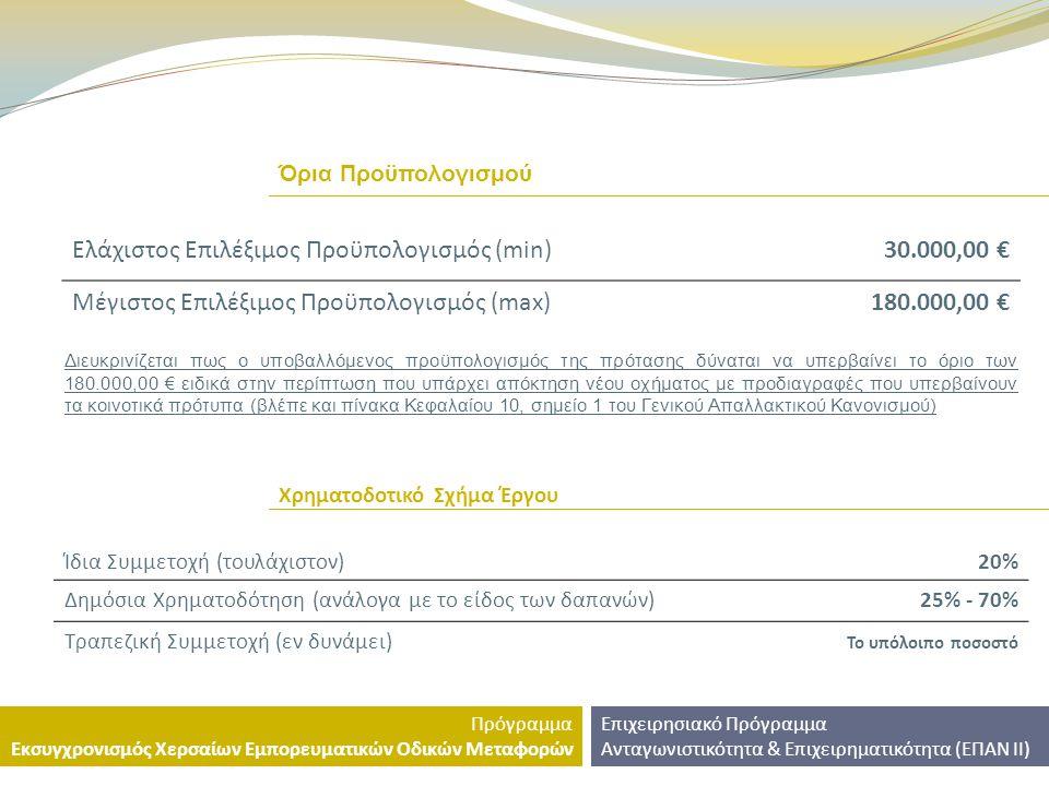 ΕΠΙΧΕΙΡΗΣΙΑΚΟ ΠΡΟΓΡΑΜΜΑ ΑΝΤΑΓΩΝΙΣΤΙΚΟΤΗΤΑ & ΕΠΙΧΕΙΡΗΜΑΤΙΚΟΤΗΤΑ 2007-2013 (ΕΠΑΝ ΙΙ) ΠΡ ΟΓΡΑΜΜΑ Εκσυγχρονισμός Χερσαίων Εμπορευματικών Οδικών Μεταφορών Μετακινούμε την Ελλάδα με ασφάλεια και σεβασμό στο περιβάλλον