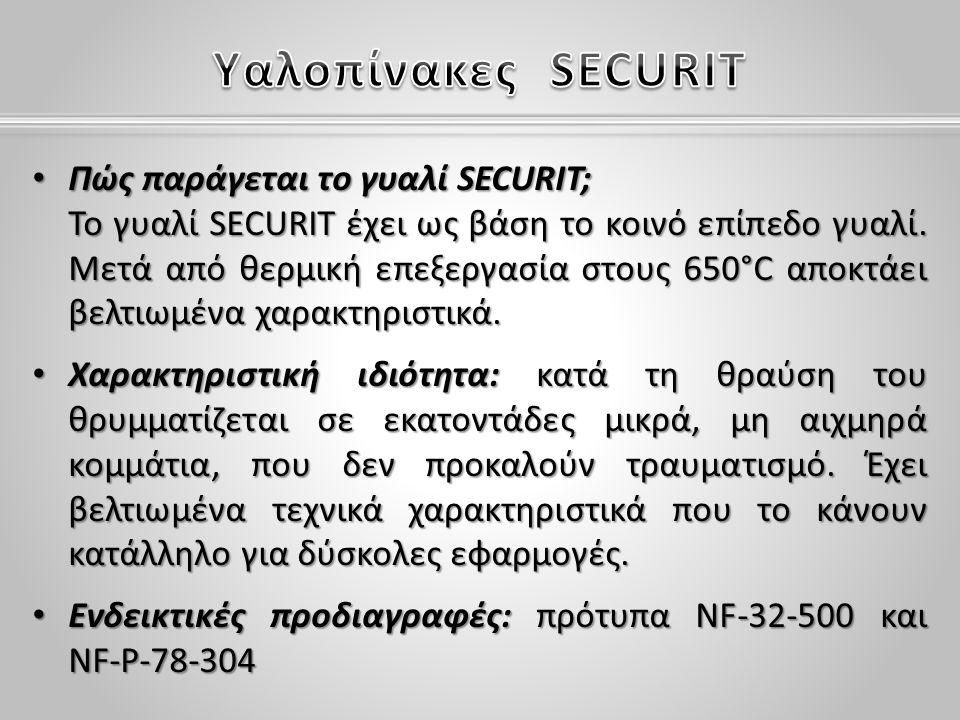 Πώς παράγεται το γυαλί SECURIT; Το γυαλί SECURIT έχει ως βάση το κοινό επίπεδο γυαλί.