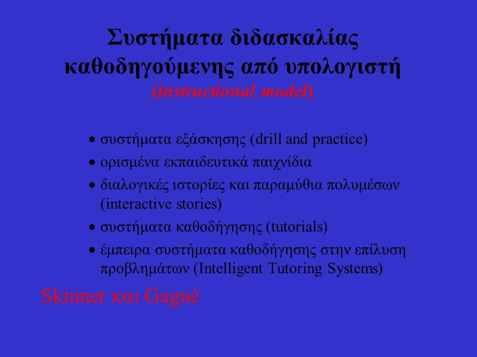 Ταξινόμηση Eκπαιδευτικού Λογισμικού 2. με βάση την παιδαγωγική - διδακτική προσέγγιση Συστήματα συμβολικής έκφρασης και οικοδόμησης Συστήματα παρουσία
