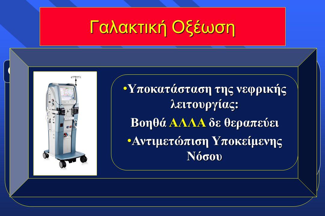 Ορισμός : Lac > 5mmol/L + pH < 7.35 Θνητότητα: 60-90% ☻Σήψη ☻Καρδιογενές σοκ ☻Υποξαιμία ☻Ηπατική ανεπάρκεια ☻Δηλητηριάσεις ☻Ισχαιμία Αίτια: Γαλακτική