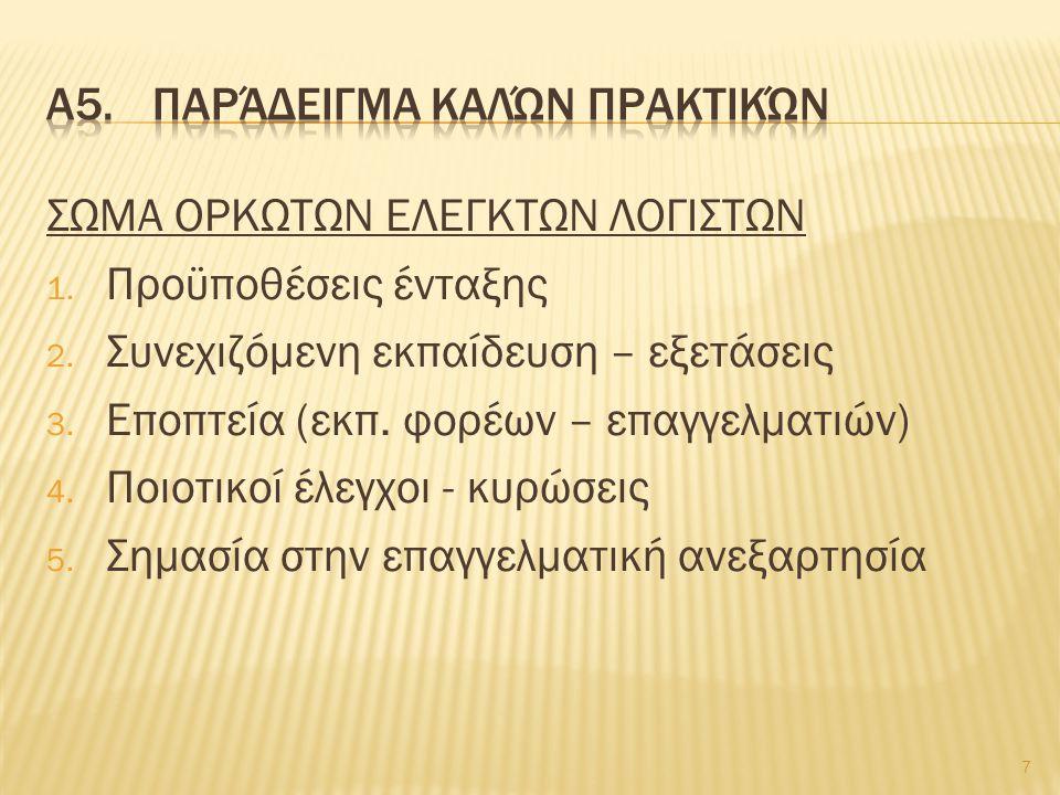 ΣΩΜΑ ΟΡΚΩΤΩΝ ΕΛΕΓΚΤΩΝ ΛΟΓΙΣΤΩΝ 1. Προϋποθέσεις ένταξης 2.
