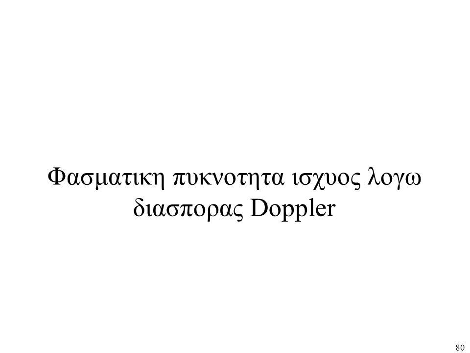 80 Φασματικη πυκνοτητα ισχυος λογω διασπορας Doppler