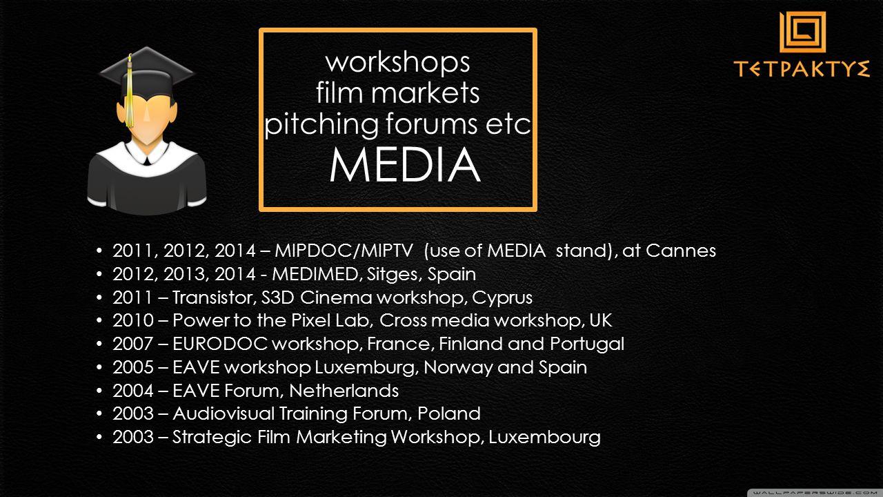σημαντικά οφέλη Συμβολή στην ανάπτυξη οπτικοακουστικών έργων για την διεθνή αγορά Ευκαιρία για επαγγελματική κατάρτιση σε διάφορους τομείς όπως : παραγωγή – marketing – διανομή κλπ Συμβολή στην εδραίωση της επαγγελματικής μας δικτύωσης στη διεθνή τηλεοπτική & κινηματογραφική αγορά