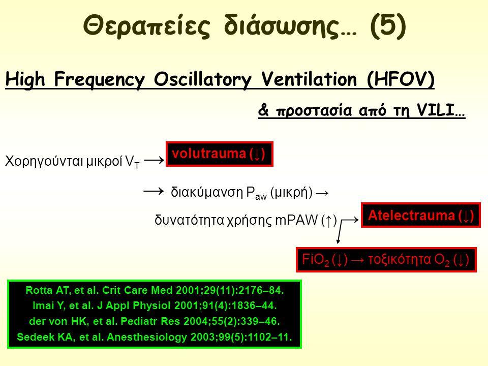 & προστασία από τη VILI… Χορηγούνται μικροί V T → → διακύμανση Ρ aw (μικρή) → δυνατότητα χρήσης mPAW (↑) → High Frequency Oscillatory Ventilation (HFO