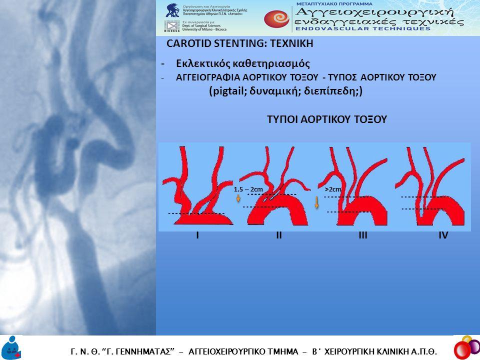"""CAROTID STENTING: TEXNIKH CAROTID STENTING: TEXNIKH Γ. Ν. Θ. """"Γ. ΓΕΝΝΗΜΑΤΑΣ"""" - ΑΓΓΕΙΟΧΕΙΡΟΥΡΓΙΚΟ ΤΜΗΜΑ - Β΄ ΧΕΙΡΟΥΡΓΙΚΗ ΚΛΙΝΙΚΗ Α.Π.Θ. -Εκλεκτικός καθ"""