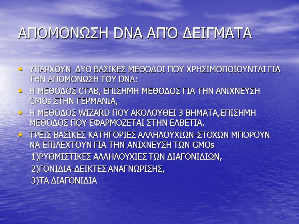 ΑΠΟΜΟΝΩΣΗ DNA ΑΠΌ ΔΕΙΓΜΑΤΑ ΥΠΑΡΧΟΥΝ ΔΥΟ ΒΑΣΙΚΕΣ ΜΕΘΟΔΟΙ ΠΟΥ ΧΡΗΣΙΜΟΠΟΙΟΥΝΤΑΙ ΓΙΑ ΤΗΝ ΑΠΟΜΟΝΩΣΗ ΤΟΥ DNA: ΥΠΑΡΧΟΥΝ ΔΥΟ ΒΑΣΙΚΕΣ ΜΕΘΟΔΟΙ ΠΟΥ ΧΡΗΣΙΜΟΠΟΙΟΥΝ