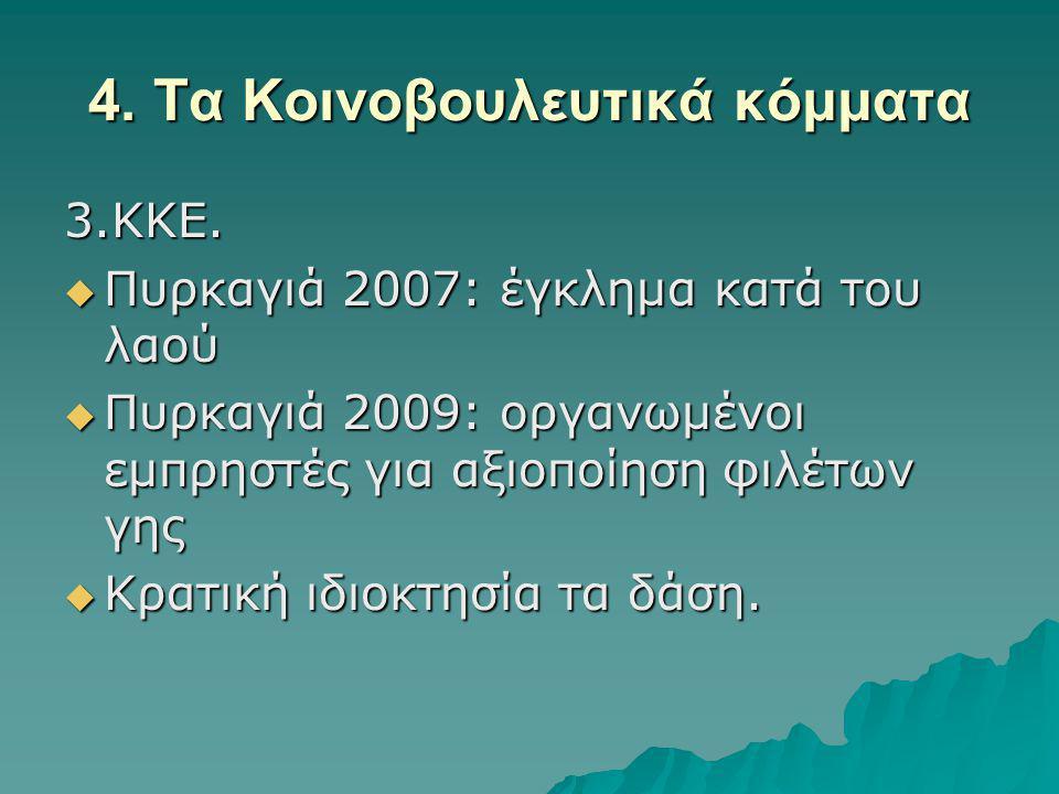 4.Τα Κοινοβουλευτικά κόμματα 3.ΚΚΕ.