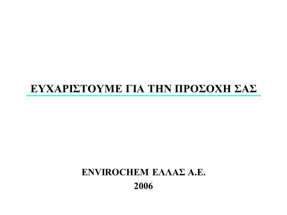 ΕΥΧΑΡΙΣΤΟΥΜΕ ΓΙΑ ΤΗΝ ΠΡΟΣΟΧΗ ΣΑΣ ENVIROCHEM ΕΛΛΑΣ Α.Ε. 2006