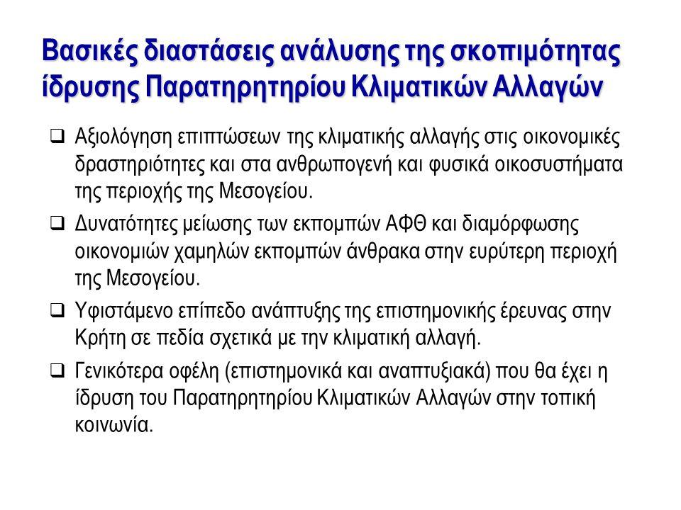 Πολλαπλά οφέλη από την ίδρυση Παρατηρητηρίου κλιματικών αλλαγών στην Κρήτη
