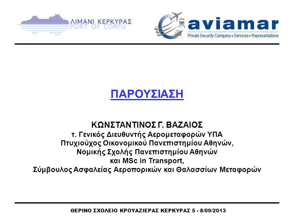 ΘΕΡΙΝΟ ΣΧΟΛΕΙΟ ΚΡΟΥΑΖΙΕΡΑΣ ΚΕΡΚΥΡΑΣ 5 - 8/09/2013 ANAKTHΣH ΚΟΣΤΟΥΣ ΕΦΑΡΜΟΓΗΣ ISPS Η έρευνα της UNCTAND, με βάση τις απαντήσεις των λιμανιών, μελέτησε τον τρόπο ανάκτησης του αρχικού κόστους και του ετησίου κόστους λειτουργίας του Κώδικα ISPS.