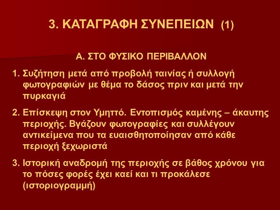 3.ΚΑΤΑΓΡΑΦΗ ΣΥΝΕΠΕΙΩΝ (1) Α.