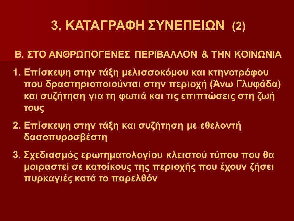 3.ΚΑΤΑΓΡΑΦΗ ΣΥΝΕΠΕΙΩΝ (2) Β.