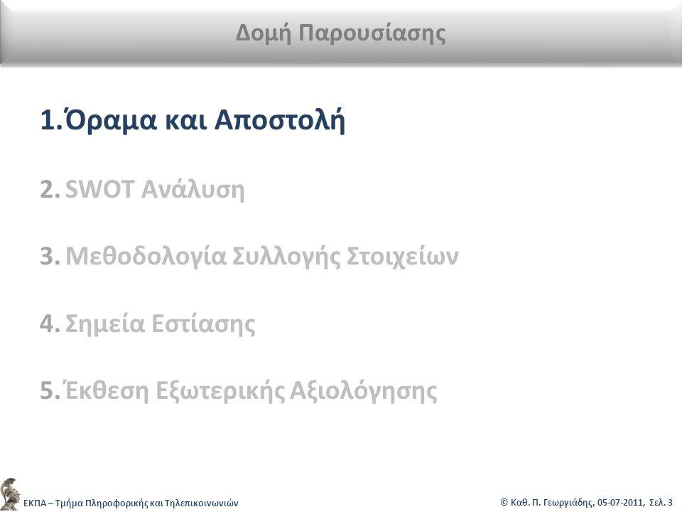 ΕΚΠΑ – Τμήμα Πληροφορικής και Τηλεπικοινωνιών © Καθ.