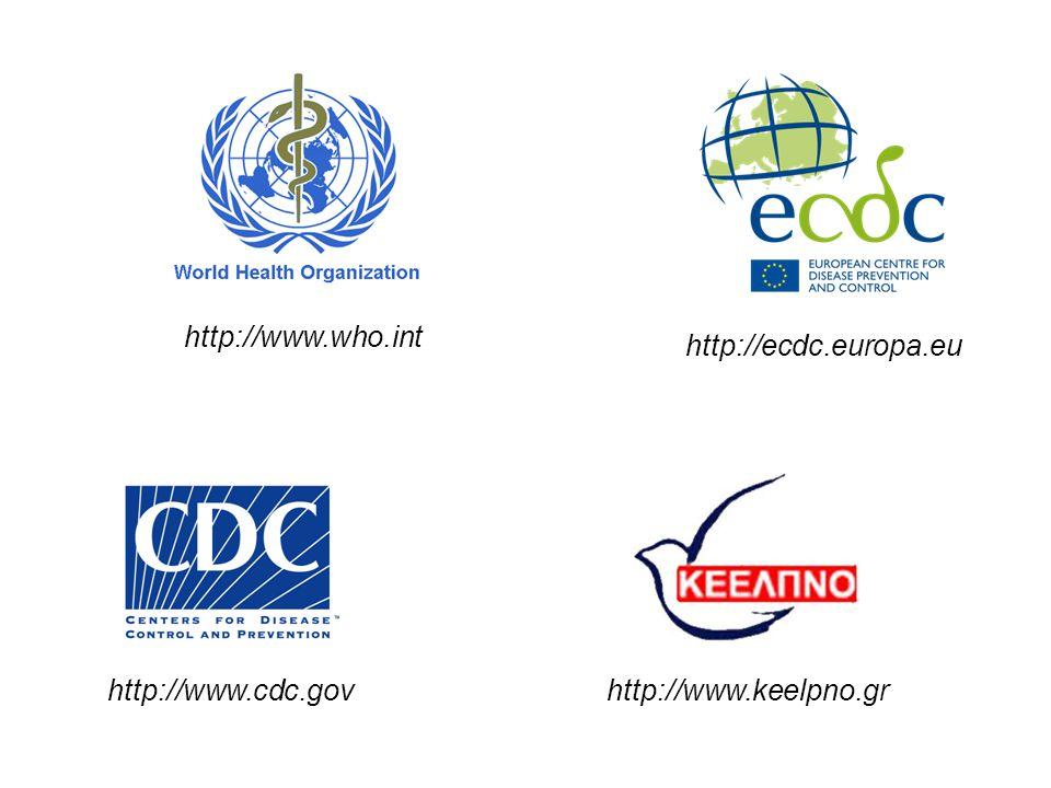 http://www.who.int http://www.cdc.gov http://ecdc.europa.eu http://www.keelpno.gr
