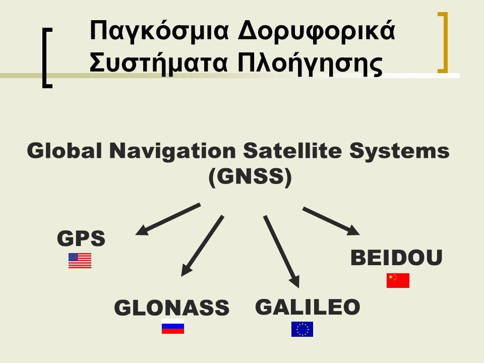 Παγκόσμια Δορυφορικά Συστήματα Πλοήγησης Global Navigation Satellite Systems (GNSS) GPS GLONASS GALILEO BEIDOU