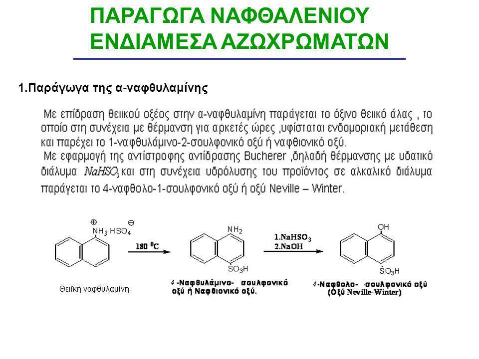 ΠΑΡΑΓΩΓΑ ΝΑΦΘΑΛΕΝΙΟΥ ΕΝΔΙΑΜΕΣΑ ΑΖΩΧΡΩΜΑΤΩΝ 1.Παράγωγα της α-ναφθυλαμίνης Θειϊκή ναφθυλαμίνη